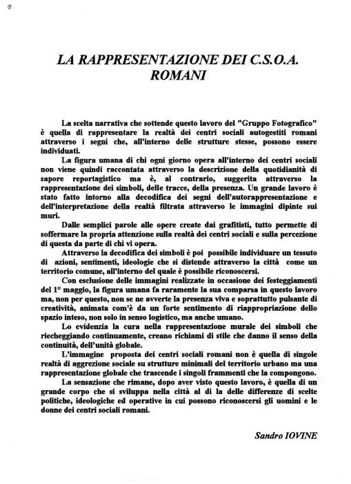 CENTRI SOCIALI ROMANI (1993)