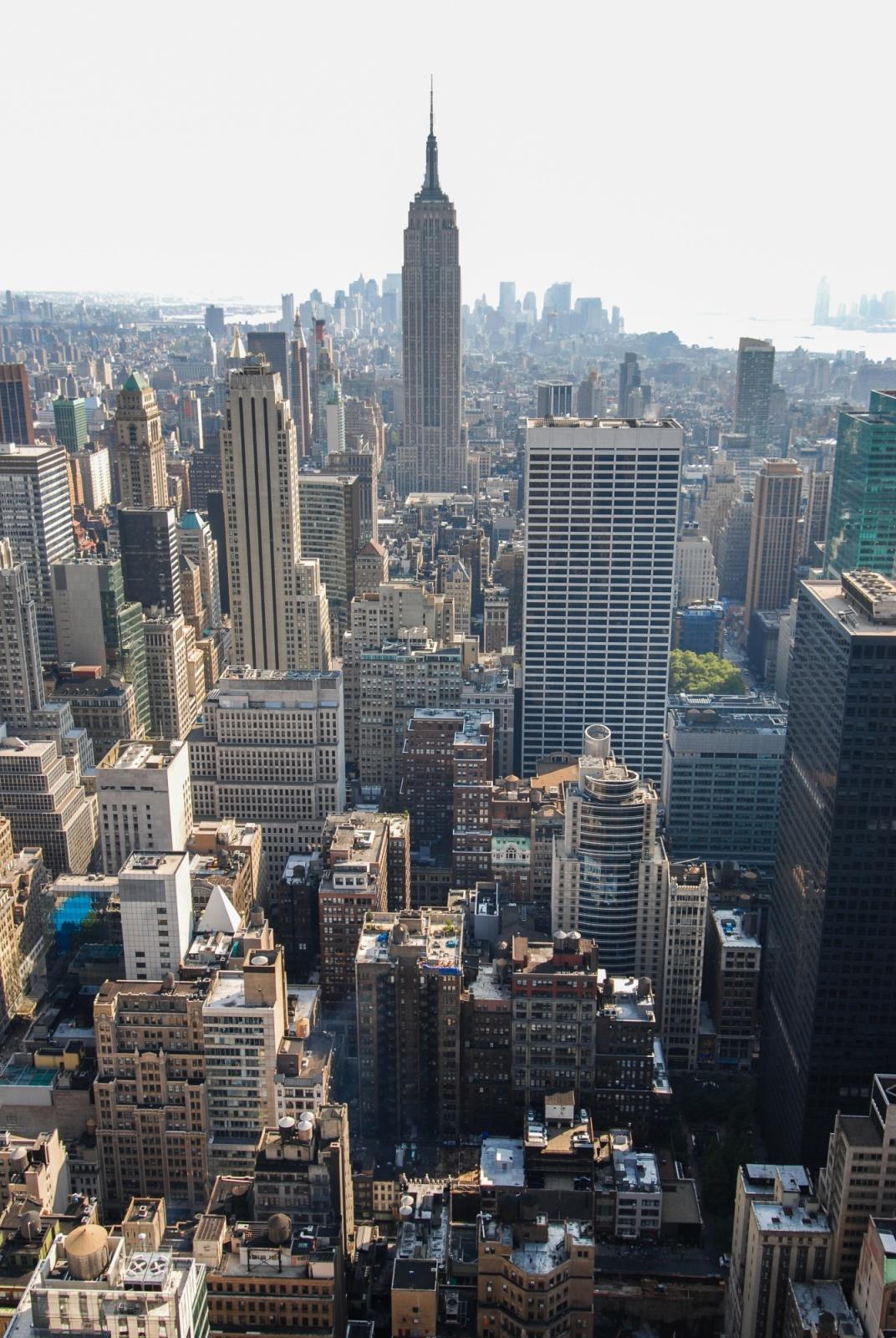 Manhattan - Paesaggio urbano dal Rockfeller Center. New York,2008